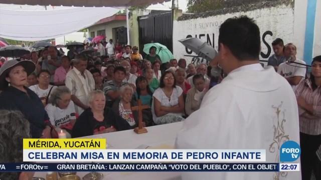 Celebran Misa Memoria Pedro Infante Mérida Yucatán