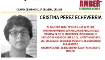 Activan Alerta Amber para localizar a una menor extraviada en Iztacalco