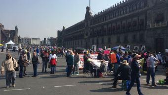 Cierran circuito vial del Zócalo CDMX por concentración de manifestantes