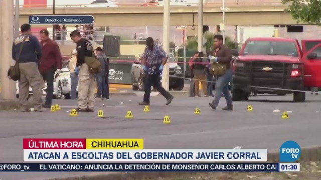 Confirma Javier Corral ataque contra su equipo de seguridad
