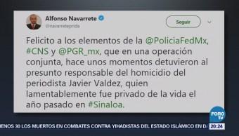 Confirman detención del presunto asesino del periodista Javier Valdez