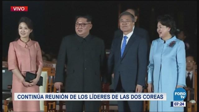 Continúa la reunión de los líderes de las dos Coreas