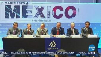 Coparmex hace llamado a candidatos a través del 'Manifiesto México'