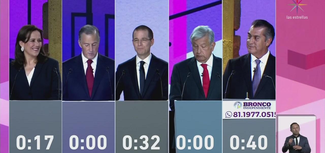 Cuatro de los cinco candidatos presidenciales se declaran ganadores del debate