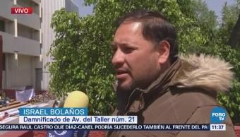 Damnificados por sismo se manifiestan frente a la Secretaría de Finanzas CDMX