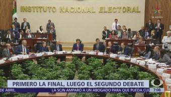 Debate presidencial y final de futbol no serán a la misma hora