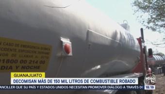 Decomisan 150 Mil Litros Combustible Robado Guanajuato