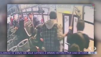Desconocidos vandalizan autobuses urbanos en Tijuana, BC