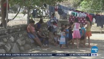 Desplazados por violencia en Guerrero continúan en albergue