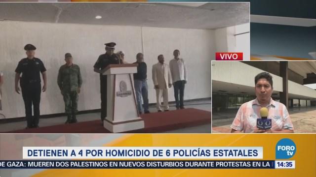 Detienen Cuatro Hombres Vinculados Emboscada Seis Policías Zihuatanejo