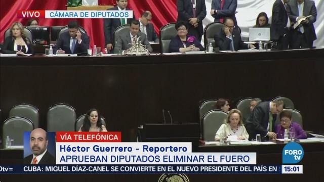 Diputados aprueban eliminación del fuero