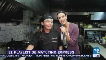 Ximena Cervantes presenta el Playlist de la semana de Matutino Express
