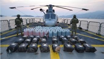 marina aseguran media tonelada de cocaina y combustible en acapulco