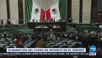 Eliminación Fuero Se Estanca Senado Mexicano Política