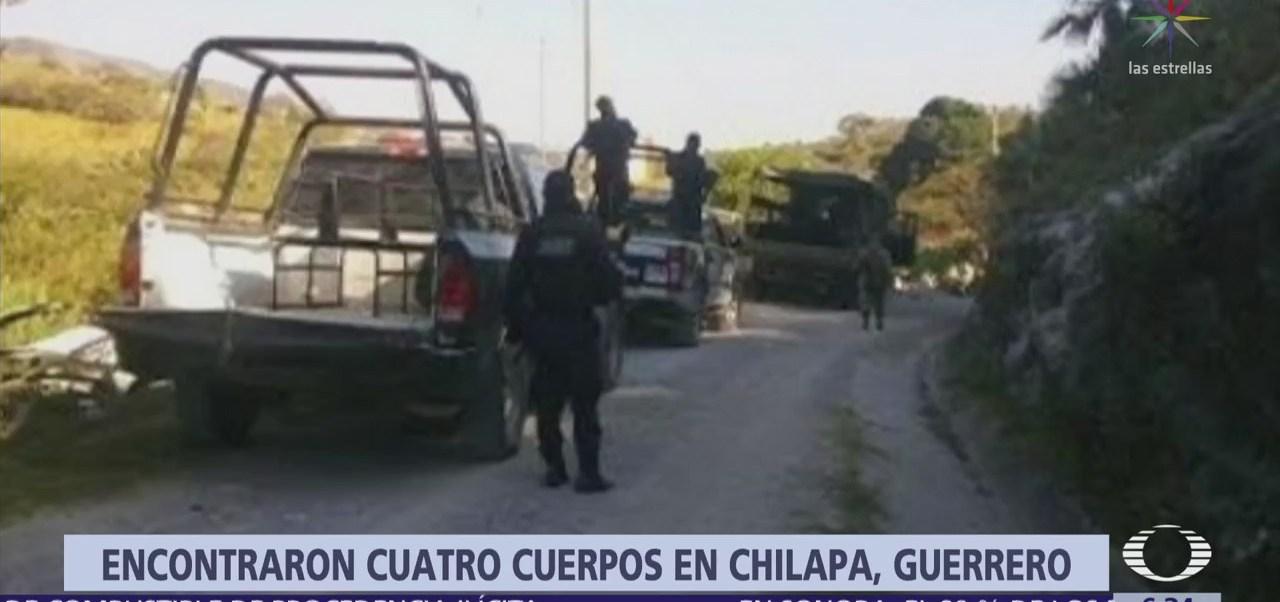 Encuentran los cuerpos de 4 hombres en carretera Chilapa-Ahuacotzingo