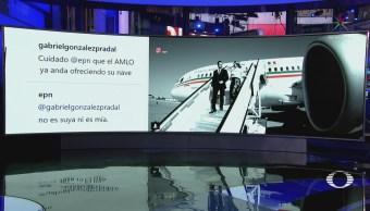 EPN asegura que el avión presidencial no es de él ni de AMLO