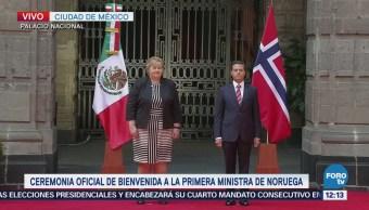 EPN recibe a la primera ministra de Noruega, Erna Solberg