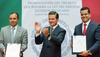 Peña Nieto promulga decreto que reforma la Ley del Servicio Exterior Mexicano