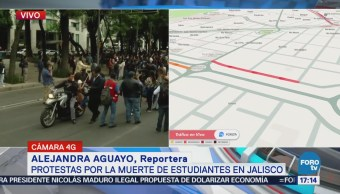 Estudiantes Cdmx Protestan Muerte Jóvenes Jalisco