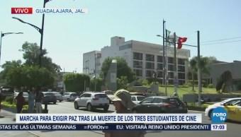Estudiantes piden seguridad tras asesinato de tres jóvenes en Jalisco