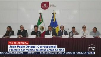 Estudiantes Protestan Muerte Tres Jóvenes Jalisco