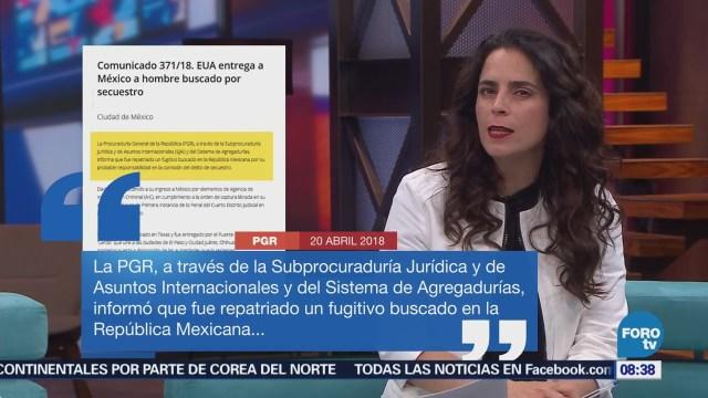EU Entrega México Hombre Acusado Secuestro