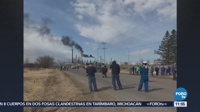 Explosión en refinería de Wisconsin, EU, deja varios heridos