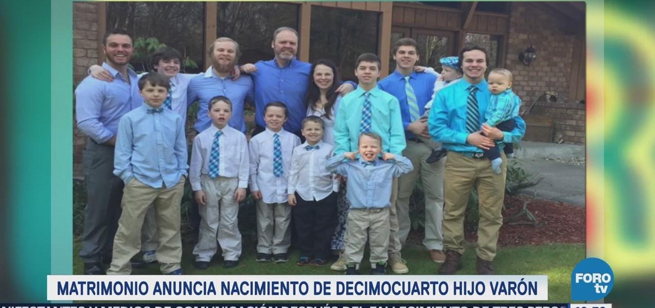 Extra Extra: Matrimonio anuncia nacimiento de decimocuarto hijo varón