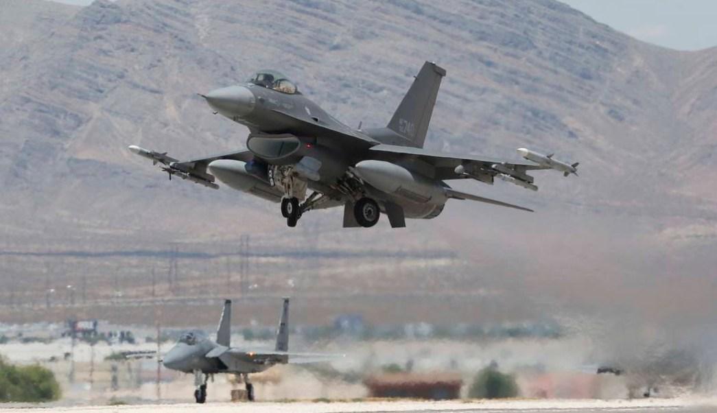 F-16 se estrella cerca Las Vegas