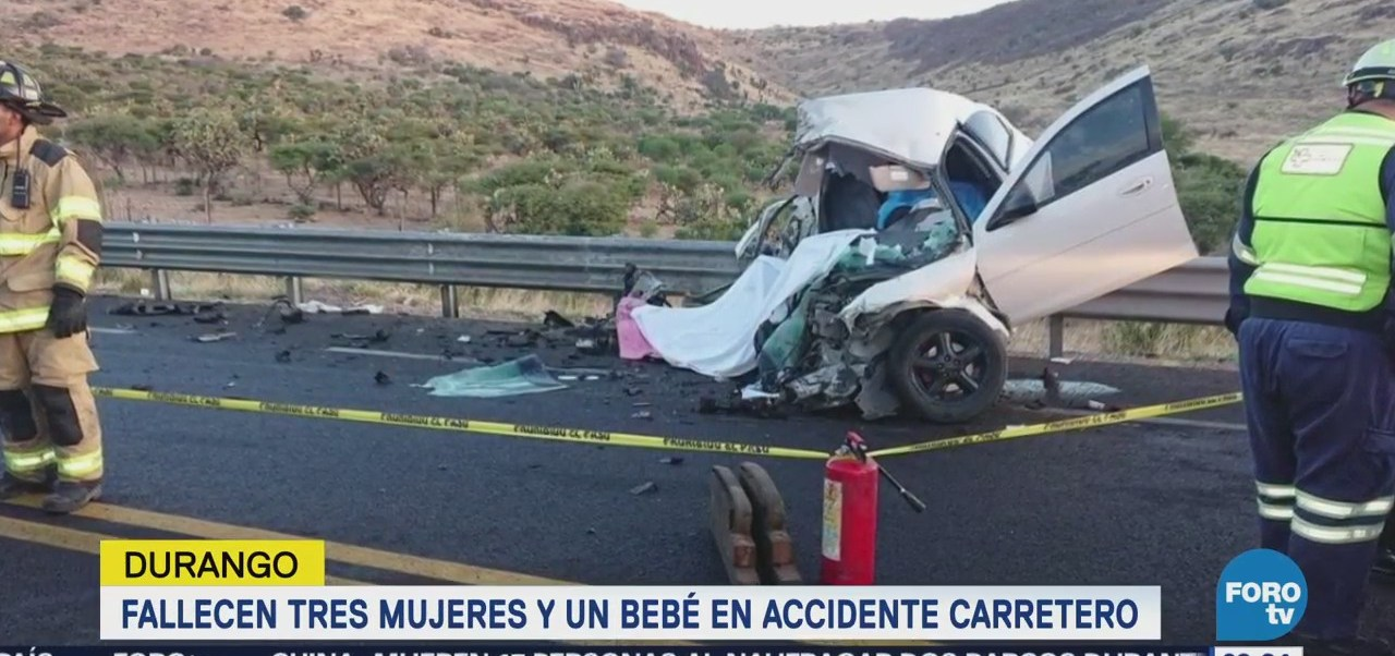 Fallecen Tres Mujeres Bebé Accidente Carretero Durango