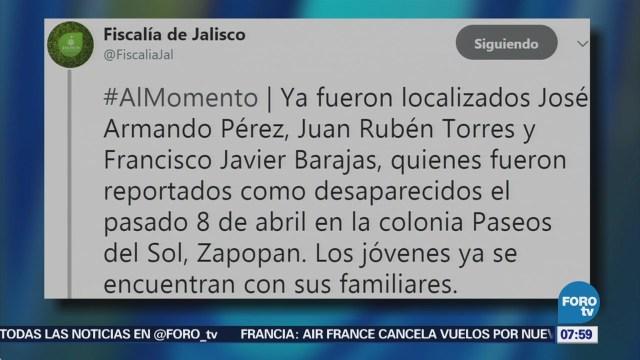 Fiscalía de Jalisco anuncia la localización de los estudiantes desaparecidos en Zapopan