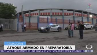 Grupo armado agrede a estudiantes en preparatoria de Tamaulipas