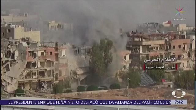 Grupos islámicos son bombardeados en Siria