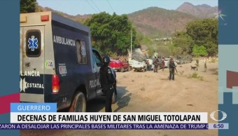 Habitantes de San Miguel Totolapan, Guerrero, abandonan sus hogares por la violencia