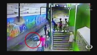 Hombre cae a las vías del Metro en Monterrey