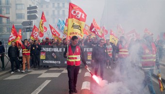 Estiman en 123 mdd pérdidas por huelga ferroviaria en Francia