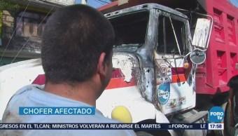 Incendian Camión Carga Iztapalapa