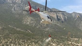 Controlan 95% del incendio forestal en la Sierra de Zapalinamé en Saltillo