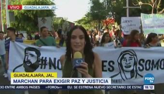 Indignación en marcha para exigir justicia en Guadalajara