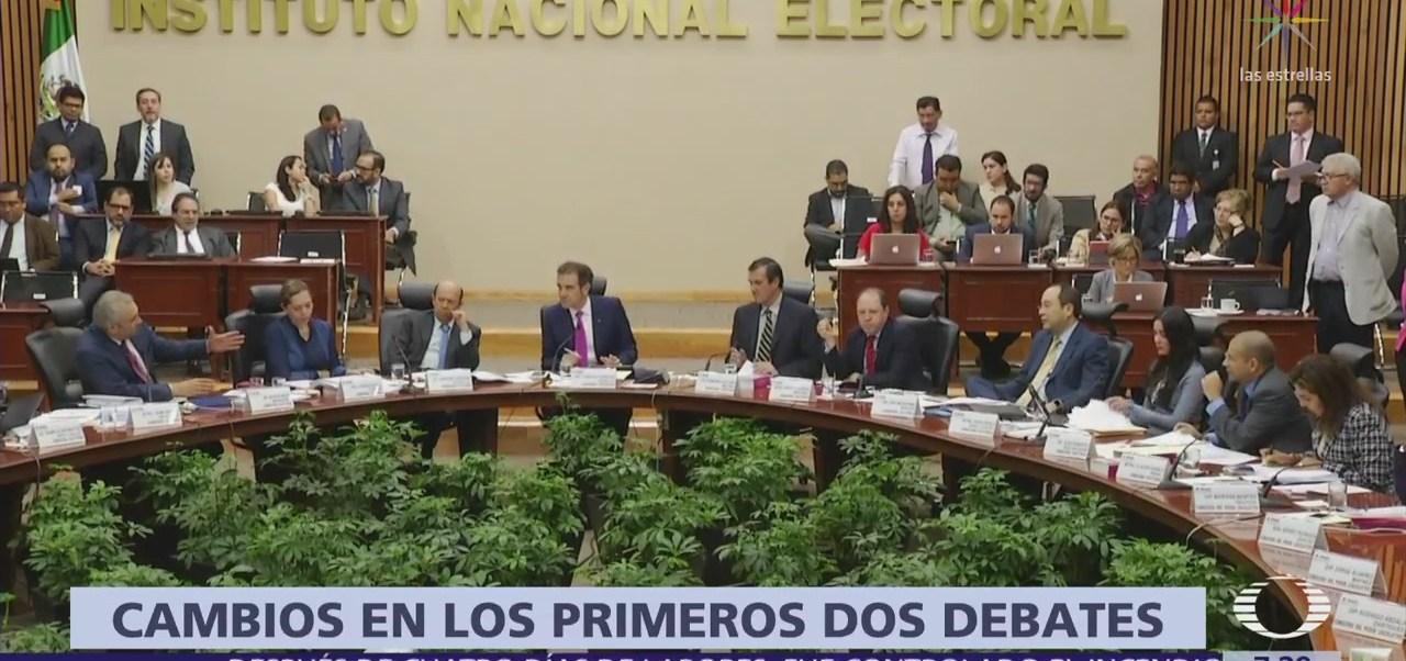 INE ajusta el horario debate presidencial