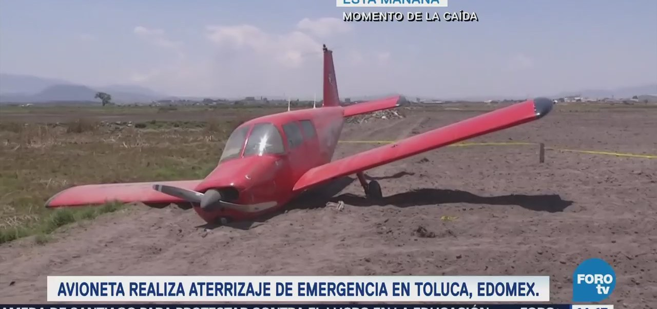 Inician labores para retirar avioneta siniestrada en Toluca