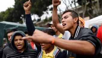 Integrantes caravana migrante se entregan estados unidos pedir asilo