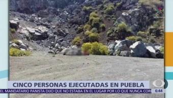 Investigan en Puebla hallazgo de 5 cuerpos en La Quebrada