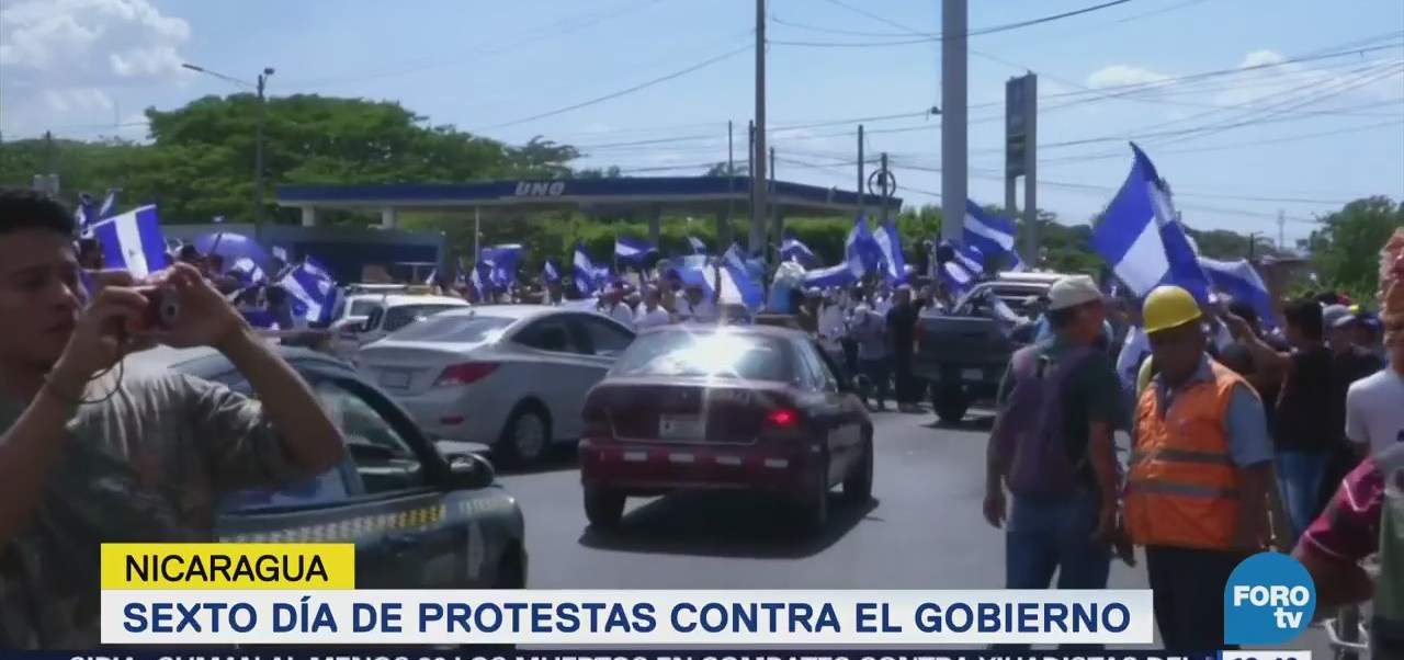 Jornada Protestas Nicaragua Daniel Ortega
