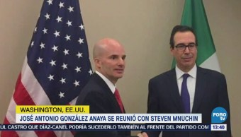 José Antonio González Anaya se reúne con Steven Mnuchin