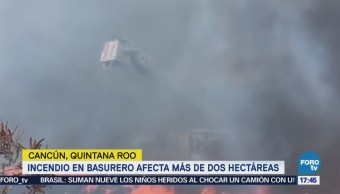Incendio Basurero Cancún Afecta Dos Hectáreas