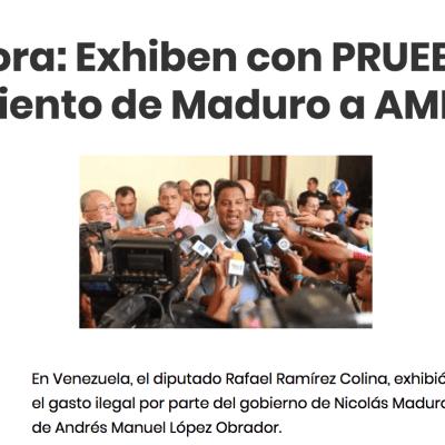 Es FALSO el Comunicado sobre supuesta relación entre gobierno de Maduro y López Obrador: #Verificado2018
