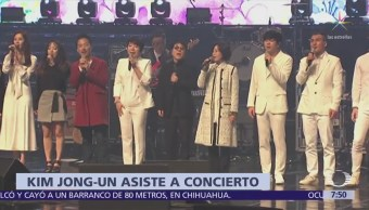 Kim Jong-un asiste a concierto en Pyongyang