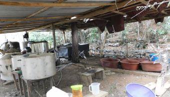 Ejército asegura laboratorio clandestino en Chiapas