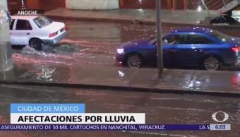 Lluvia causa afectaciones en 10 delegaciones de la CDMX